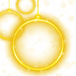 Royalty-Free Stock Vector Image: Golden Neon Christmas Ball on White Background