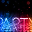 Party Abstract Colorful Waves on Black Background — ストックベクタ