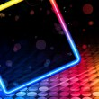 Disco Abstract Square Box on Black Background — Stok Vektör
