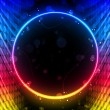 Disco Abstract Circle Box on Black Background — Imagens vectoriais em stock