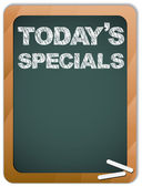 Blackboard with Today's Specials Message written with Chalk — Stock Vector