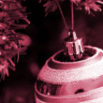Christmas ornaments on tree. — Stock Photo