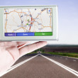 GPS screen — Stock Photo