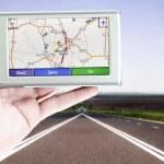 GPS screen — Stock Photo