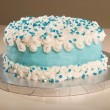 Buttercreme Cloud Cake — Stock Photo