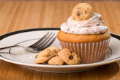Cookie Dough Cupcake — Stock Photo