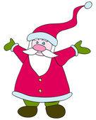 可爱的圣诞老人 — 图库矢量图片