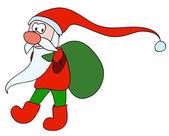 Very cute Santa — Stock Vector