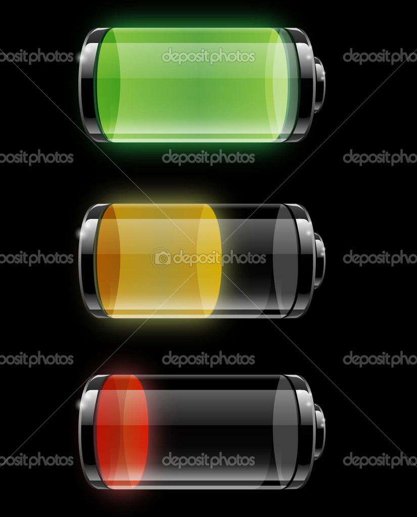 Batteries with different levels of charging — Stock Vector #4626089