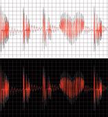 кардиограмма — Cтоковый вектор