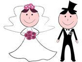 Bröllop — Stockvektor