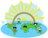 Children of the World — Stock Vector