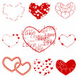 Valentines hearts — Stock Vector