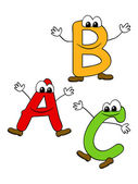 Cartoon ABC — Stock Vector