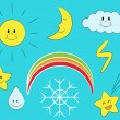 Cartoon weather — Imagen vectorial