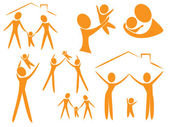 Aile logo — Stok Vektör