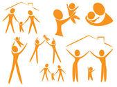 Logo de la famille — Vecteur