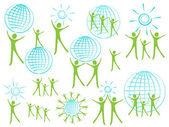 глобальные логотип — Cтоковый вектор