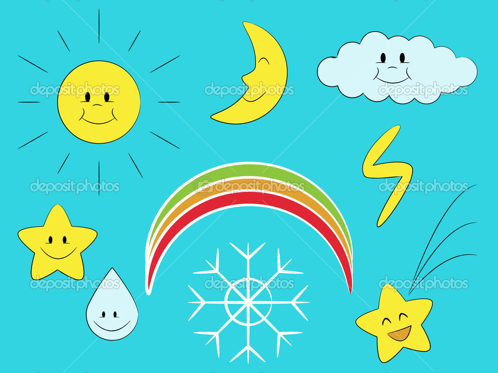 The collection of meteorological symbols — Stock Vector #5114866