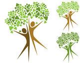 Green trees — Vecteur