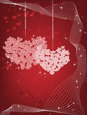 Liefde achtergrond — Stockvector