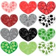 Fruits hearts — Stockvectorbeeld