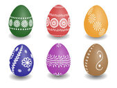 Wax painted easter eggs — Stock Vector