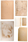 Blank old papers set — Stock Photo