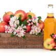Cider Apples with Blossom — Stock Photo