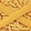Fusilli Pasta and Spaghetti — Stock Photo
