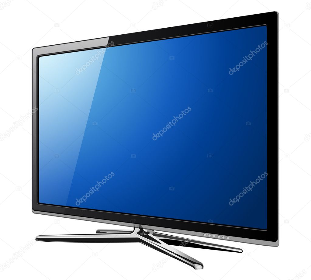 Modern TV lcd, led - vector illustration. — Stock Vector #4028332