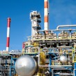 Part of a big oil refinery - Stock Photo