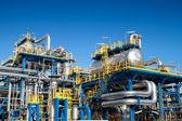 Oil industry equipment installation — Stock Photo