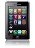 Teléfono móvil, vector. — Vector de stock