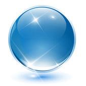 3D crystal sphere — Stock Vector