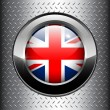 United Kingdom UK flag button — Stock Vector #4323240