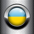Royalty-Free Stock Vector Image: Ukraine flag button