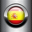 Royalty-Free Stock Vector Image: Flag of Spain button