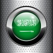 Stock Vector: Saudi Arabiflag button