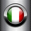 Stock Vector: Italian, Italy flag button
