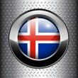 Flag of Iceland button — Stock Vector