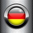German, Germany flag button — Stock Vector