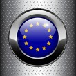 Europe EU flag button — Stock Vector