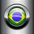 Brazil flag button — Stock Vector