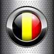 Stock Vector: Belgium flag button