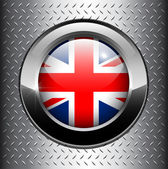 United Kingdom UK flag button — Stock Vector