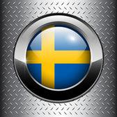 Flag of Sweden button — Stockvector