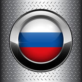 Russian Federation flag button — Stock Vector