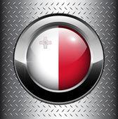 Flag of Malta button — Stock Vector