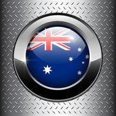 Australia flag button — Stock Vector